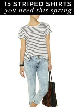 15 Modern Striped Shirt Styles You Need This Spring Capsule Wardrobe Work, Wardrobe Ideas, American Casual, Star Fashion, Mom Fashion, Warm Weather Outfits, Outfit Goals, Mom Style, Spring Summer Fashion