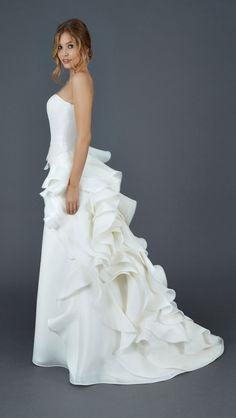 Lory/3 - Abito da Sposa Semi Ampio - Vestito da Sposa in Organza | Atelier Eme