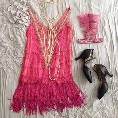 Pink flapper costume