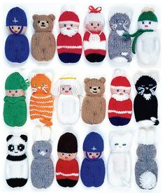 Fifteen quick and easy knitting patterns to stuff and hang on the Christmas tree, on packages or wreaths or as gifts for young children. The patterns in this 20-page, illustrated instruction book include: Santa, teddy, kitten, panda, snowman and more. A splendid opportunity to recycle those