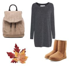 """fall"" by lea-fashionista ❤ liked on Polyvore featuring Fine Collection, UGG Australia, rag & bone and Croft & Barrow"