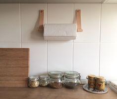 Leather paper towel holder / Etsy shop Rowzec