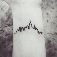 outline of the New York skyline