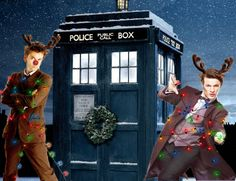"""Happy Who-lidays!! """"...take that thing off.; I shan't, it's Christmas."""""""