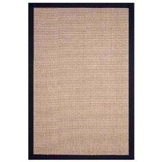 Sisal Natural / Black Contemporary Rectangular Rug Size: 5` x 8` $106.00
