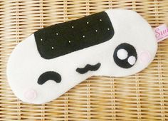FREE SHIPPING - Sleeping Eye Mask - Kawaii Onigiri Sushi (Male or Unisex)