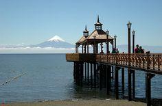 Muelle de Frutillar, en el lago Llanquihue. Region de Los Lagos. Chile.