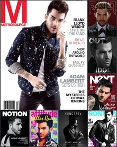 "____ ADAM LAMBERT ON "" 8 COVER "" MAGAZINES ( 2015 )…"