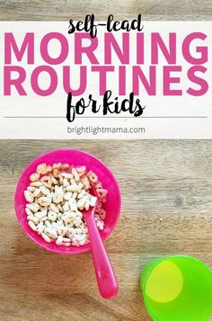 Build A Morning Routine for Kids (That They Can Do Themselves!) Learn to create a self-lead morning routine for kids so they can get ready on their own steam. No more micromanaging the get-ready rush! Morning Routine Printable, Morning Routine Chart, Morning Routine Kids, Before School Routine, School Routines, Daily Routines, Morning Activities, Toddler Activities, Kids Schedule