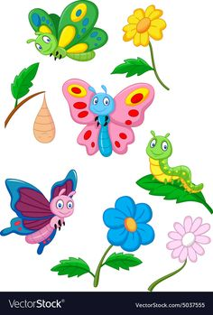 Cartoon butterfly, caterpillar and cocoon. Illustration of Cartoon butterfly, ca , Cartoon Butterfly, Butterfly Kids, Butterfly Drawing, Butterfly Painting, Butterfly Clip Art, Art Drawings For Kids, Cartoon Drawings, Art For Kids, Cartoon Cartoon
