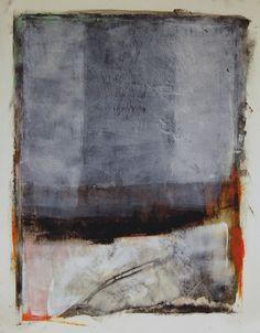 Karen L. Darling ~ Distant Shores (oil, wax, charcoal)