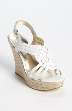 the perfect white wedge! i want it! GUESS 'Asila 2' Sandal | Nordstrom