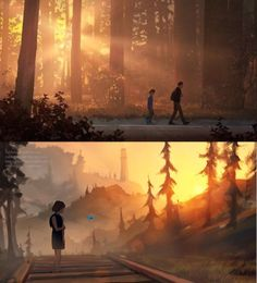 Arcadia Bay, Life Is Strange 3, Follow The Leader, Arte Sketchbook, First Person Shooter, Detroit Become Human, Bioshock, Weird Art, Legend Of Zelda