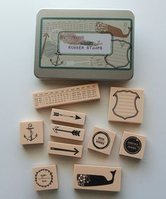 Glitz Design Uncharted Waters Rubber Stamp Kit