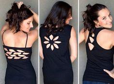 Customizar camisetas con la espalda al aire - http://blogmujer.org/customizar-camisetas-con-la-espalda-al-aire/
