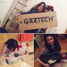 One of our happy winners! #gretsch #competition #acoustic #happy #lovethemusic