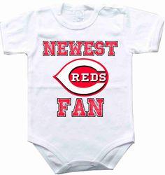 Baby bodysuit Newest fan Cincinnati Reds baseball by rockbabysuit, $10.98