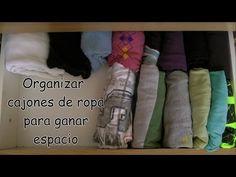Organizar cajones de ropa para ganar espacio
