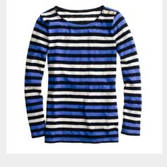 """J Crew painter tee in multistripe Classic long sleeve tee from J Crew. Slim fit. Signature textured cotton with 3 buttons on left shoulder. Excellent condition. Armpit to bottom hem is about 17"""". J. Crew Tops Tees - Long Sleeve"""