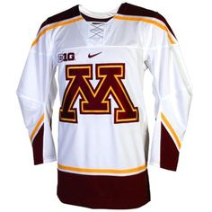 Nike Minnesota Golden Gophers Twill Hockey Jersey - White