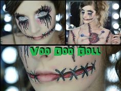 Caitlyn Kreklewich is an amazing makeup artist! VooDoo Doll | SFX Halloween Makeup/Hair Tutorial