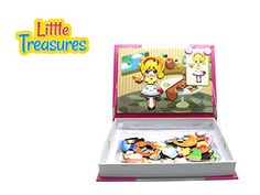 Little Treasures 84-Pcs Magnetic Dress-Up Set Kitchen dressup baby Toy Book for Kids Ages 3 Plus ** Click image for more details.