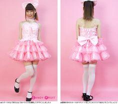 歌ってみたいあなたのためのアイドル衣装★ビスチェアイドル(ピンク)【受注生産】【送料無料】
