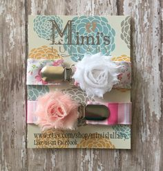 Shabby chic pacifier clip by mimislullaby on Etsy https://www.etsy.com/listing/218638843/shabby-chic-pacifier-clip