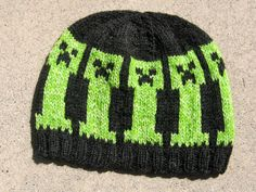 wool hat Minecraft Creepers by debthorpe on Etsy, $35.00