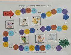 Min blogg om allt mellan himmel och jord: Gratis pedagogiskt material: Additionsspel med Pok... Blogg, Math Games, Montessori, Little Ones, Pokemon, Barn, Teaching, Activities, Education