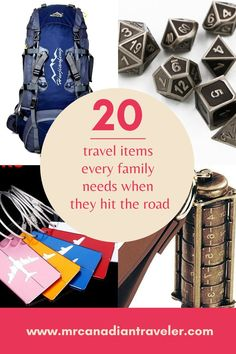 We have travel items for everyone in the family. Everything you need for when the time comes to hit the road as a family. Cheap Places To Go, Cool Places To Visit, Travel With Kids, Family Travel, Backpacking Checklist, Key Chain Holder, Make A Family, Vintage Canvas, Travel Items