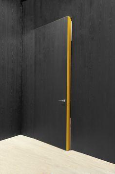 I love this painted detail on the side of the door Room Interior, Interior Design Living Room, Interior And Exterior, Flush Door Design, Invisible Doors, Porte Design, Door Dividers, Casa Loft, Hotel Door