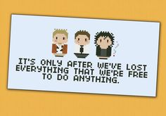 Fight Club quote chibi - PDF cross stich pattern