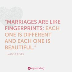 Marriages are like fingerprints. @mywedding