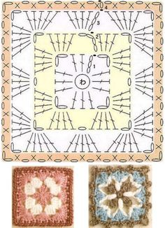 Transcendent Crochet a Solid Granny Square Ideas. Inconceivable Crochet a Solid Granny Square Ideas. Motifs Granny Square, Granny Square Crochet Pattern, Crochet Diagram, Crochet Chart, Crochet Squares, Crochet Granny, Granny Squares, Crochet Bedspread Pattern, Crochet Motif Patterns