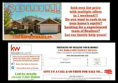 """DIRECT MAIL  People say """"Mike I've tried direct mail. It doesn't work.""""  I received this direct mail postcard today from a successful local Realtor -- Marla Yost with Keller Williams.   You'll immediately notice it's not fancy or expensive but I'll guarantee you it's effective. Her team has For Sale signs all over town and they move a lot of real estate every year.  Why do you believe this postcard is effective?  The Marla Yost Team at Keller Williams Realty"""
