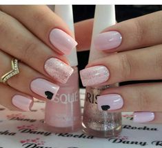 Nails Art Pink Elegant Ideas For 2019 Valentine Nail Art, Shellac Nails, Manicures, Pretty Nail Art, Manicure E Pedicure, Nagel Gel, Nail Art Hacks, Stylish Nails, Perfect Nails