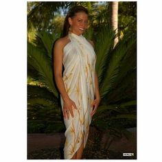 2f4a07b9434 The bamboo sarong in white offers a great look for the pool