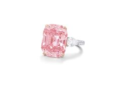The rare 24.78ct Graff Pink diamond that Laurence Graff bought at auction in 2010 for a record-breaking £29 million.