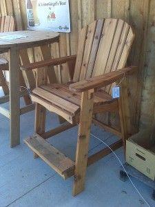 Luxury Bar Height Adirondack Chairs