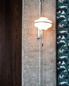 Marsh House Restaurant by Parts and Labor Design Dj Lighting, Wall Sconce Lighting, Lighting Design, Wall Sconces, Interior Wall Lights, Fan Decoration, Ceiling Lamp, Lamp Light, Desk Lamp