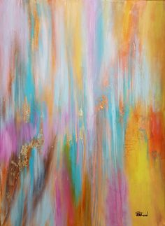 Title: Serenity Price: $533 Size: Width (cm): 61, Height (cm): 76  https://artsmiley.com/product/serenity/  These mild shades with a hint of gold, trigger a calming effect on the persons mind, eyes and soul, thus allowing space for good and positive energy to flow through.  #buy #print #paintings #abstract #multicolor #goldsheet #buypainting #abstractpainting #paintingsonline #dubai #uae