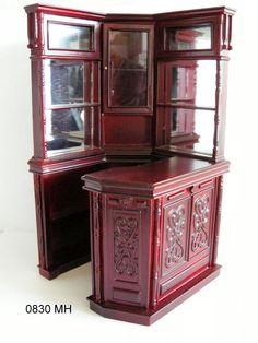 0830MH+Corner+Bar+-+mahogany+[0830MH+]+-+$255.06+:+JBM+Miniatures,+Wholesale+Collectible+Miniature+Furniture