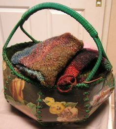 vintage card baskets