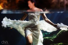 Riviera Maya Photography Cenote Trash the Dress photography in a bridal gown by Carolina Herrera.  Mexico wedding photographers Del Sol Photography