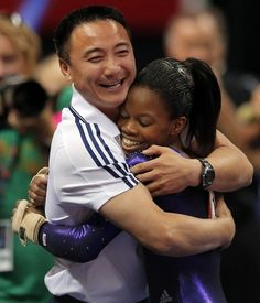 Gabby Douglas and Coach Chow! I love both of them!