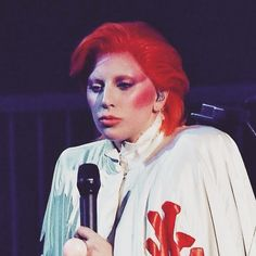 Thank You Kansai Yamamoto for working with us on this ZIGGY STARDUST CAPE which is your original design we are so grateful by ladygaga