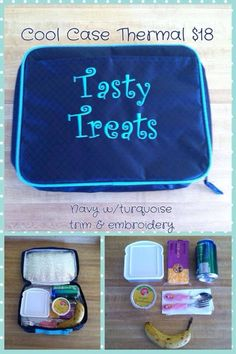 Thermal tote, cool case thermal, lunch box, Thirty-One summer 2014, personalized! My kids each have one, they picked out their patterns, fonts, and colors. Ready for school!  www.mythirtyone.com/501264