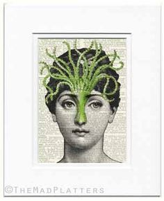 greenie beanie Cavalieri print by FauxKiss on Etsy