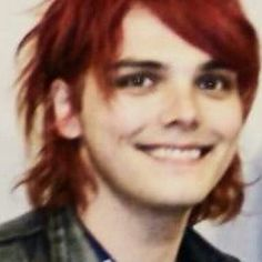 i bet you if i show this to anyone they'll say he's a girl.... no honey that's gerard way